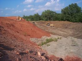 Cut and fill borrow pit